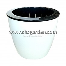 SHS Kebun Self-watering Pot Hydroponic Pot (Round White)